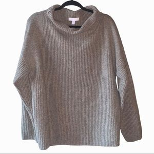 Chelsea 28 funnel cowl neck chunky knit sweater. L